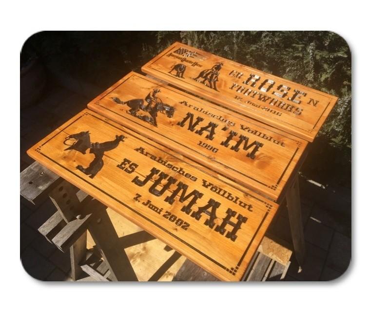 Holzschild für Westernstall